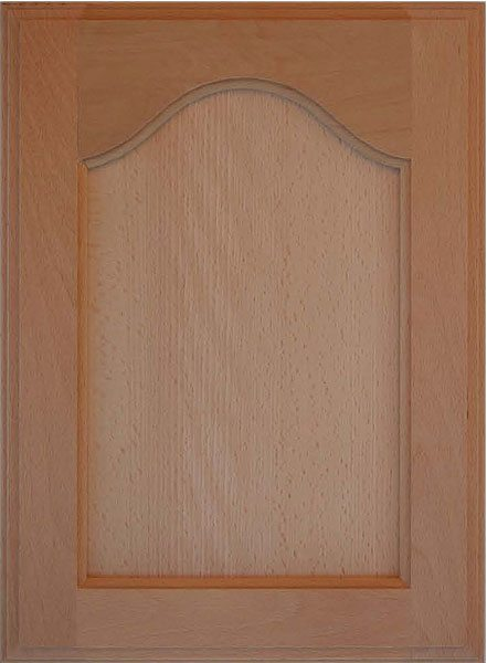 302 Cathedral Arched Veneer Flat Panel Door Image