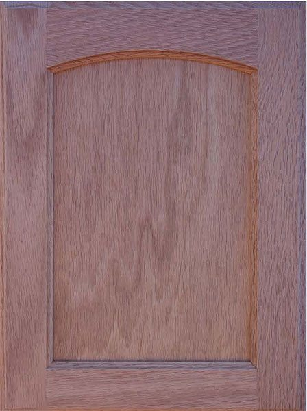 304 Crown Arched Veneer Flat Panel Door Image