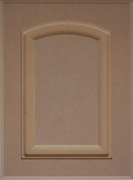 804 Crown Arched 1 Piece Slab MDF Door Image