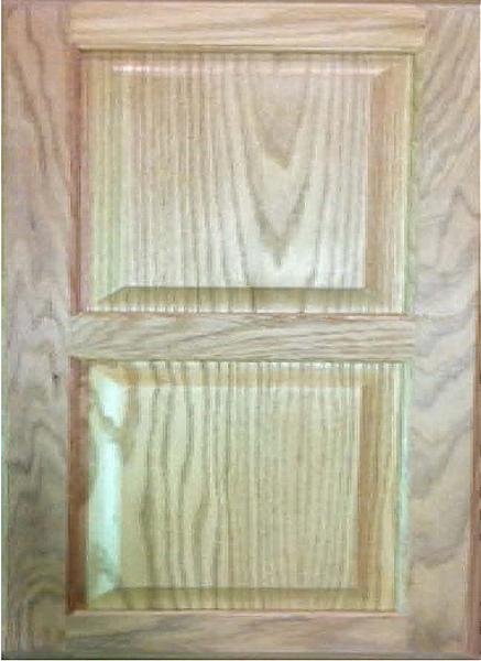 1011 Double Solid Wood Raised Panel Door Image