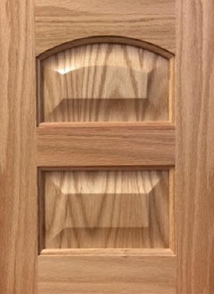 5044 Double Crown Arched Veneer Raised Panel Door Arkansas Wood Doors