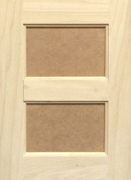 3011 Double MDF Flat Panel Door Image