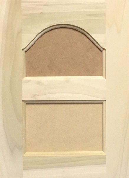 3022 Double Cathedral Arched MDF Flat Panel Door Image