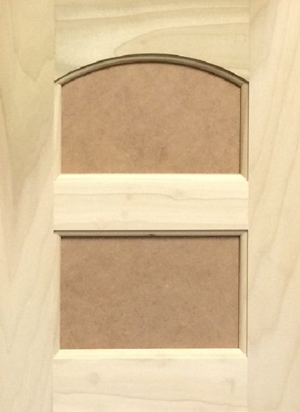 3044 Double Crown Arched MDF Flat Panel Door Image