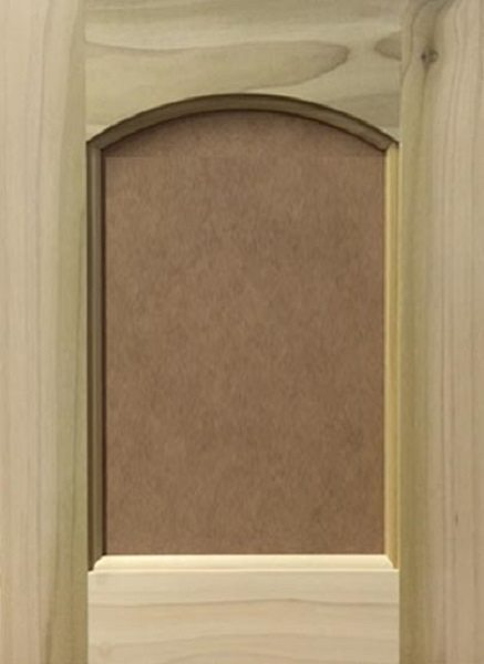 304 Crown Arched MDF Flat Panel Door Image