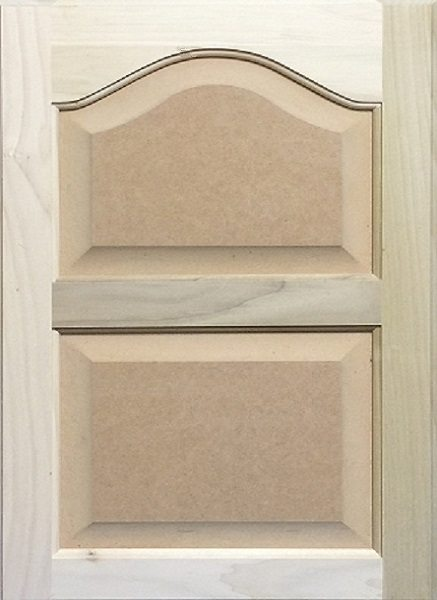 4022 Double Cathedral Arched MDF Raised Panel Door Image