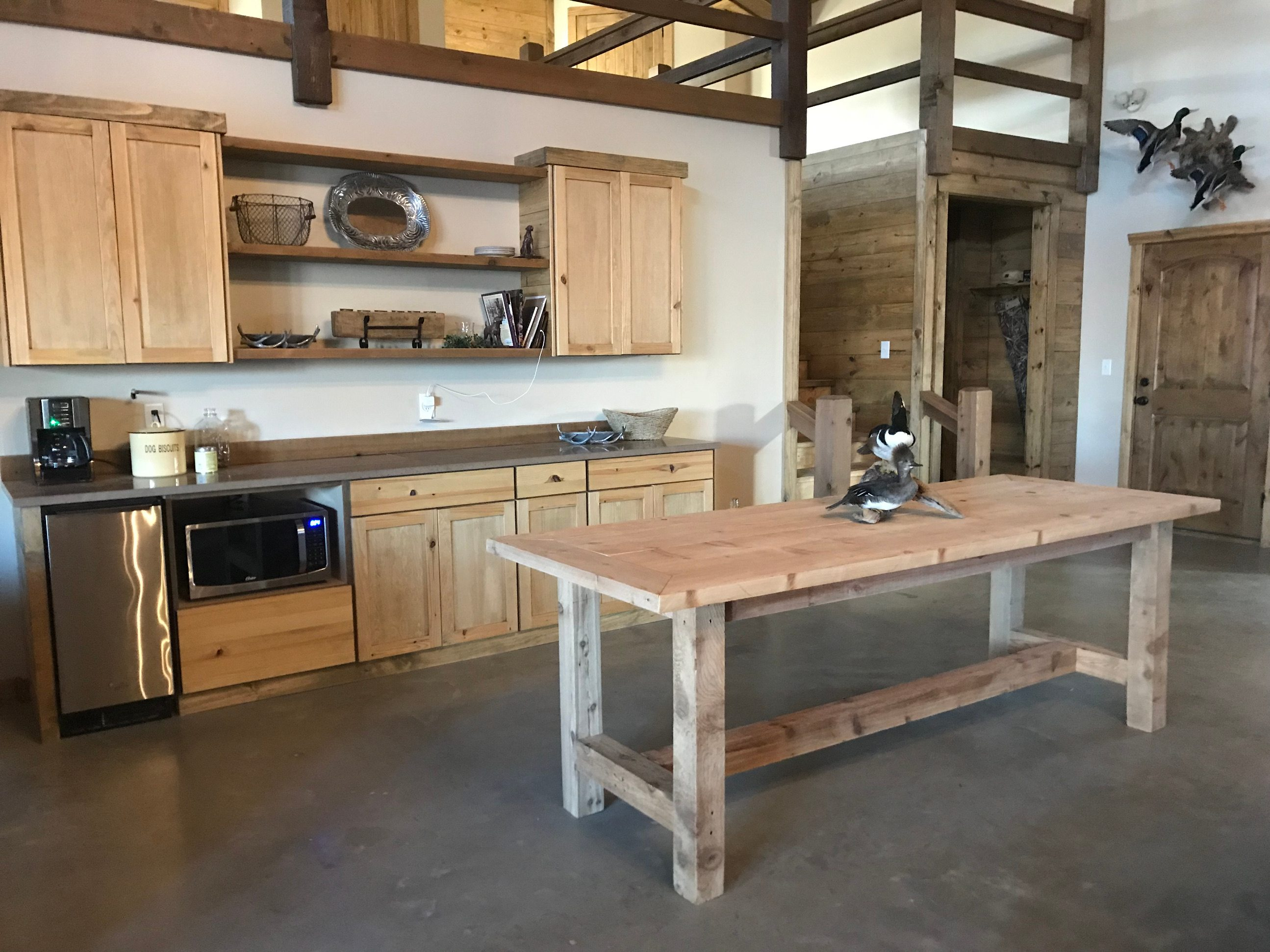 Rustic lodge kitchen cabinets