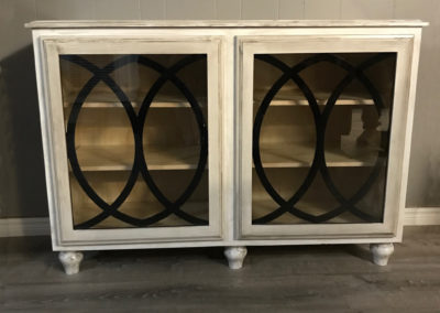 Rustic Cabinet with Glass Mullions