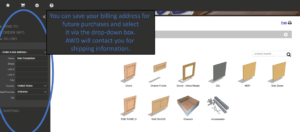 online cabinet door order system by Allmoxy